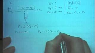 Fluid Momentum Example 1