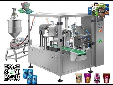 Automatic laundry detergent standup bag piston fill seal packaging line cream doypack machine