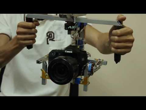 Двухосевой подвес для камер GoPro (серебристый)