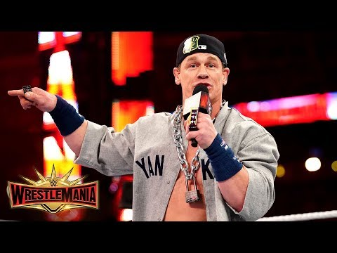 John Cena returns as the Dr. of Thuganomics to verbally assault Elias: WrestleMania 35 (WWE Network)