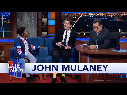 "Tyler From ""The Sack Lunch Bunch"" Surprises John Mulaney On The Late Show"