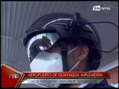 Aeropuerto de Guayaquil implementa cascos inteligentes para medir temperatura