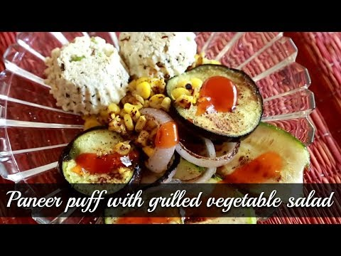 Paneer Puffs With Grilled Salad – Quick and Easy Recipe By Annuradha Toshniwal [HD]