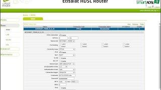 ضبط اعدادات روتر اتصالات للانترنت بالكامل DSL اتصالات - Etisalat.eg|ETISALAT ADSL ROUTER