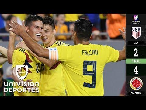 Estados Unidos 2-4 Colombia - GOLES Y RESUMEN - Partido Amistoso
