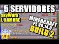 5 SERVIDORES para Minecraft PE v0.14.0 BUILD 2  - YouTube