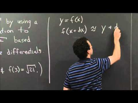 Linear approx. with differentials | MIT 18.01SC Single Variable Calculus, Fall 2010