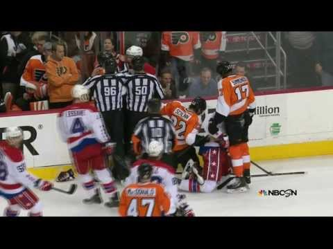 Brawl - Brawl in 1st. Simmonds, Schenn, Erskine, Lecavalier Washington Capitals vs Philadelphia Flyers 3/5/14. 1ST PERIOD 11:59 WSH Tom Wilson Fighting (maj) - 5 min...