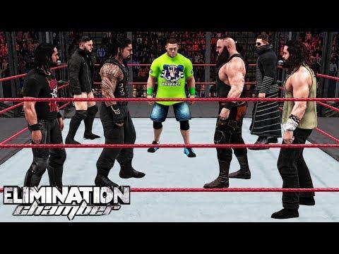 WWE 2K18 Elimination Chamber 2018 - John Cena vs Reigns vs Braun vs Rollins vs Miz vs Balor vs Elias