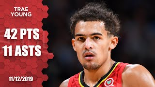 Trae Young scores season-high 42 points, stares down Nuggets bench   2019-20 NBA Highlights