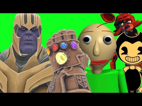 Can Thanos' INFINITY GAUNTLET Kill BALDI, BENDY & FOXY in Gmod!? (видео)