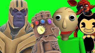 Can Thanos' INFINITY GAUNTLET Kill BALDI, BENDY & FOXY in Gmod!?