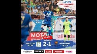 Video Full Highlight Futsal Fc Barcelona 1-2 Movistar Inter Final Leg 5 MP3, 3GP, MP4, WEBM, AVI, FLV Juni 2017