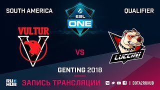 Vultur Team vs Luccini, ESL One Genting SA Qualifier, game 2 [Lum1Sit]