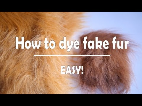How to dye fake fur at home