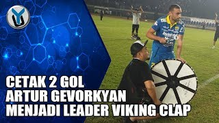 Download Video CETAK 2 GOL ARTUR GEVORKYAN MENJADI LEADER VIKING CLAP MP3 3GP MP4
