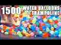 1500 Water Balloons + Trampoline- SLO MO!!