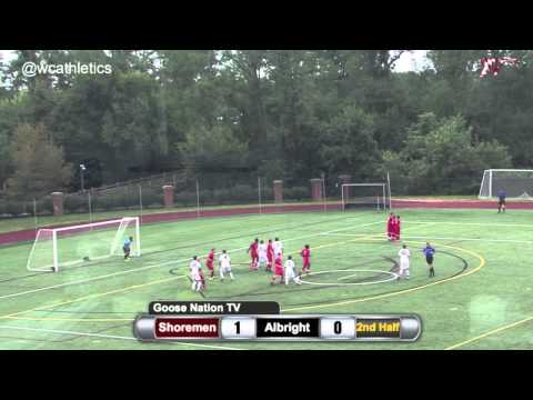 Washington College Men's Soccer Highlight Goals v. Albright