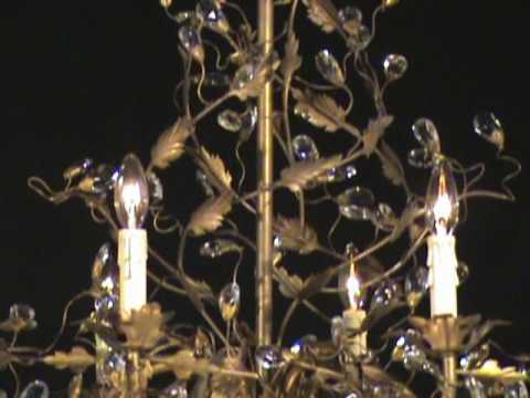 Video for Elegante Etruscan Gold Nine-Light Chandelier