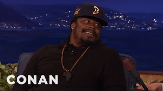 """Video Marshawn Lynch: The NFL Hated When I Grabbed My """"Ding-Ding Sauce""""  - CONAN on TBS MP3, 3GP, MP4, WEBM, AVI, FLV September 2018"""