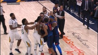 Video OKC Thunder vs Utah Jazz - All 11 fight/brawl scenes - ugliest game in years! MP3, 3GP, MP4, WEBM, AVI, FLV September 2019