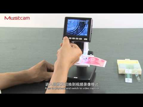 Mustcam 1200x 5M Desktop LCD Digital Microscope UM038
