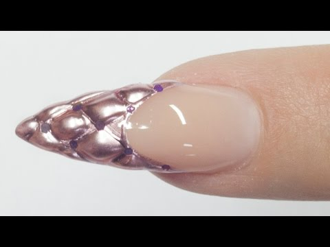 nail art - french capitonné 3d