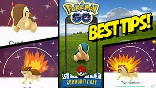BEST TIPS for SHINY CYNDAQUIL COMMUNITY DAY in POKEMON GO! by aDrive