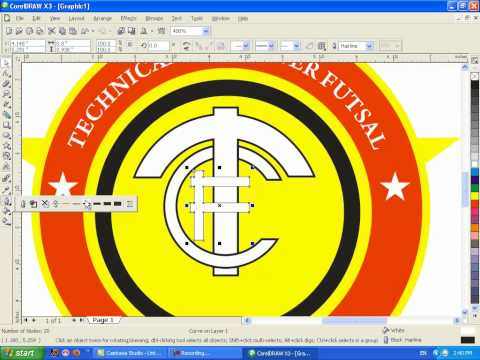 tutorial coreldraw x3 membuat logo tcf mp4 tutorial coreldraw membuat