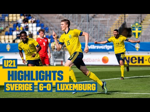 Highlights U21: Sverige – Luxemburg 6-0 i EM-kvalpremiären!