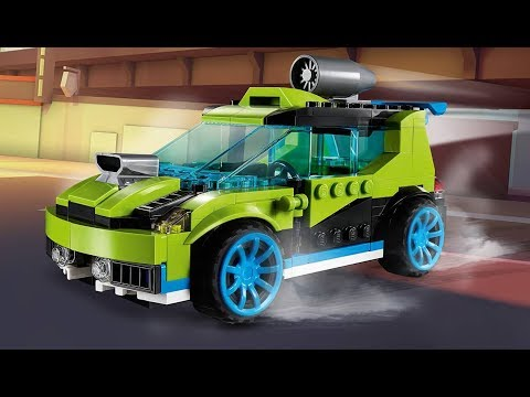 Crush the Competition with the Rocket Rally Car or Jet Truck in LEGO® Creator 3in1 Rocket Rally Car!