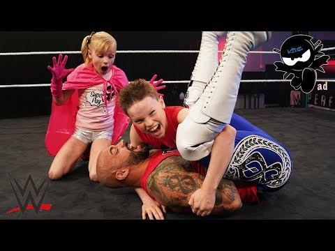 Ninja Kidz vs WWE Ricochet! Super Stars in Training!