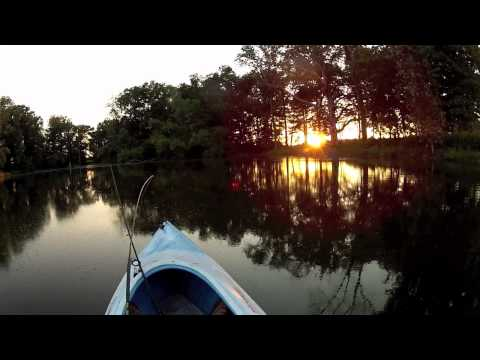 Kayak Pond Fishing, Largemouth Bass/Crappie
