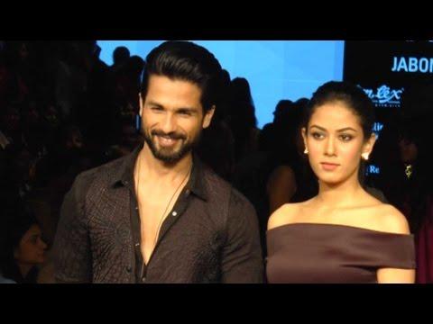 Shahid Kapoor Guards Wife Mira At Lakme Fashion We