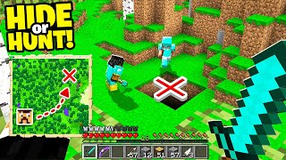 these Minecraft players are hunting for a SECRET Base.. (Hide Or Hunt #2)