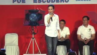 Poe delivers forceful speech: 'Puno na ang salop'