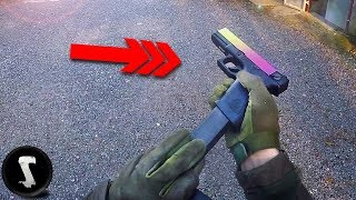 Scaring the @#$% out of Airsoft Noobs with FULL-AUTO G18 Fade (they didn't like me)