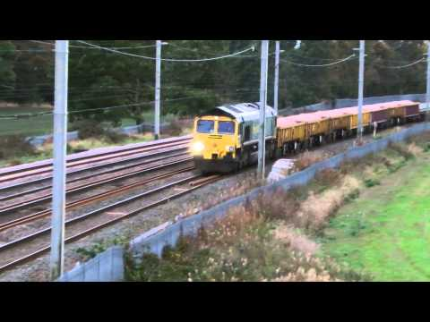Freightliner class 66 & 70 working engineers trains past ...