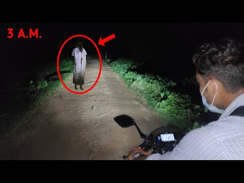 The Ghost Is Walking Upside Down On The Village Road | Jinn Caught On Camera 2020 | 3am Vlogs