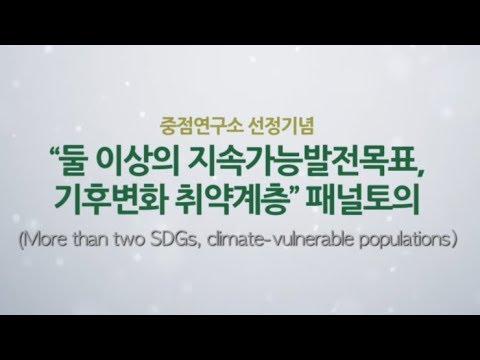 '둘 이상의 지속가능발전목표, 기후변화 취약계층' 패널토의 : 패널토의