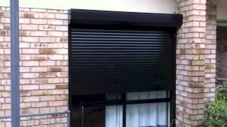 Roller Shutters Black Motorised with Solar Ballina