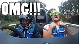 BLINDFOLD RIDE IN SUPERCHARGED ROCKET: REACTION VIDEO!! by Supercars of London