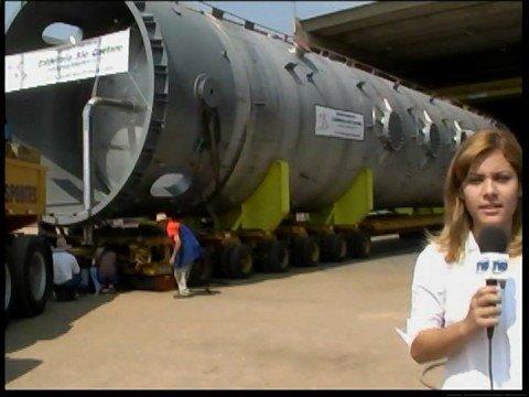 Caldeiraria - Reportagem da TV Direta referente ao Reator de Oxidação da Peroxidos.
