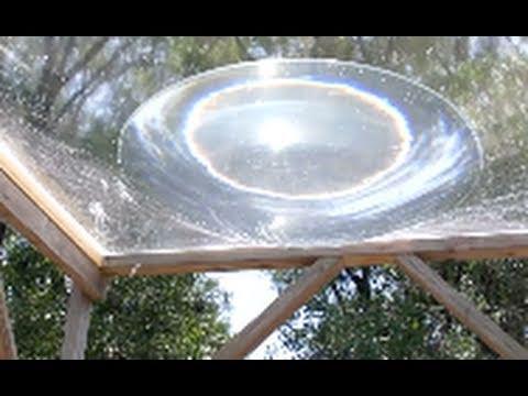 come fare una cucina solare con un foglio di plastica trasparente