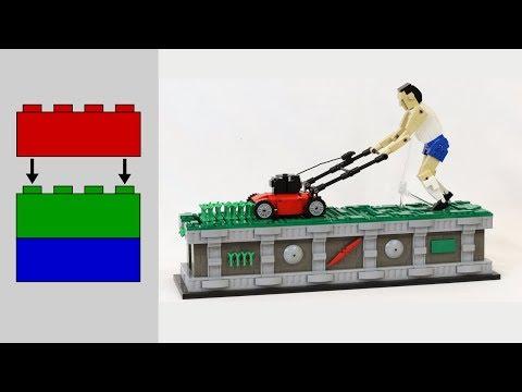 Building the LEGO Lawn Mower Man (No talking, no music) [11:33]