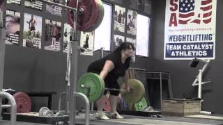 Daily Training 8-11-14 - Tamara halting snatch with no jump, Audra back squat, Br