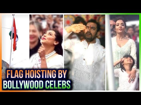 Indian Flag Hoisting | Aishwarya Rai, Rani Mukerji