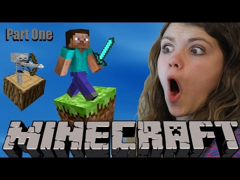 Audrey And Dad Play Minecraft- Part 1