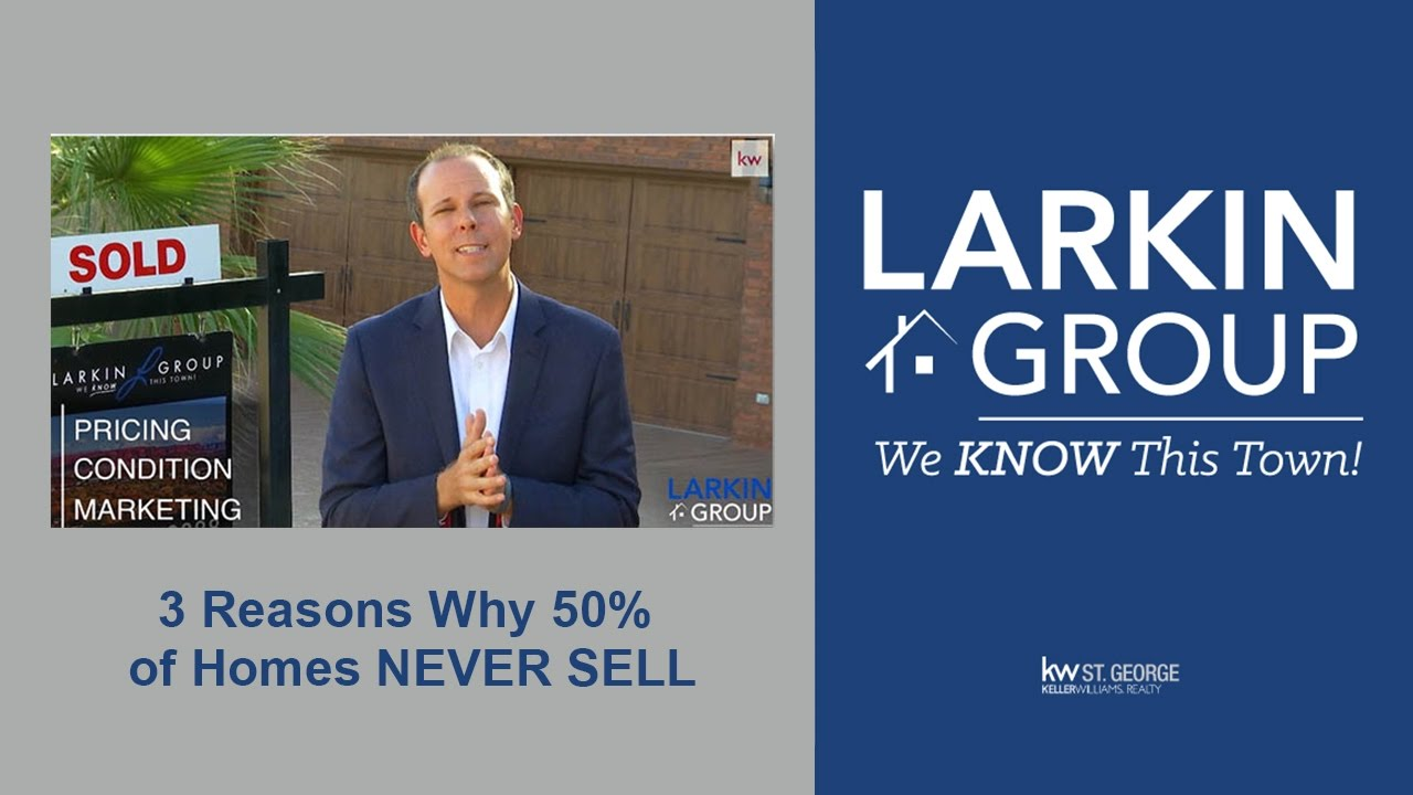 3 Reasons 50% of homes never sell (in ANY market)