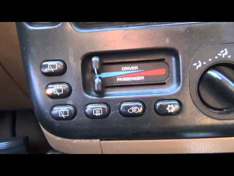 How to: Hvac calibration 1996-2000 Chrysler Minivans